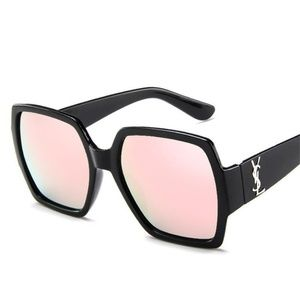 Accessories - Designer Fashion Flat Top Trendy Sunglasses Black